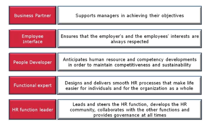 Develop the role played by the HR function in deploying the strategy